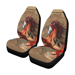 Wonderful horse with skull, red colors Car Seat Covers (Set of 2)
