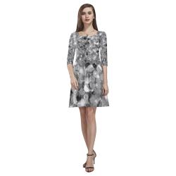 Disco Pattern by K.Merske Tethys Half-Sleeve Skater Dress(Model D20)