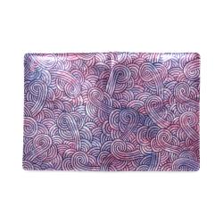 Dark purple swirls doodles Custom NoteBook B5