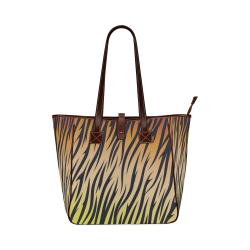 W Tiger Ceramics Decals Classic Tote Bag (Model 1644)