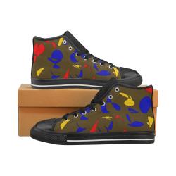 zappwaits g3 Men's Classic High Top Canvas Shoes (Model 017)