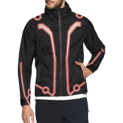 Red Tron AUB Unisex All Over Print Windbreaker (Model H23)