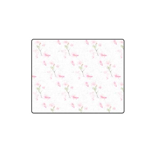 """Pattern Orchidées Blanket 40""""x50"""""""