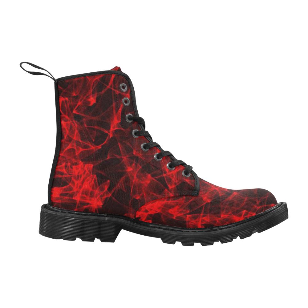 lava flame Martin Boots for Women (Black) (Model 1203H)