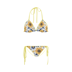 Sunflowers Custom Bikini Swimsuit