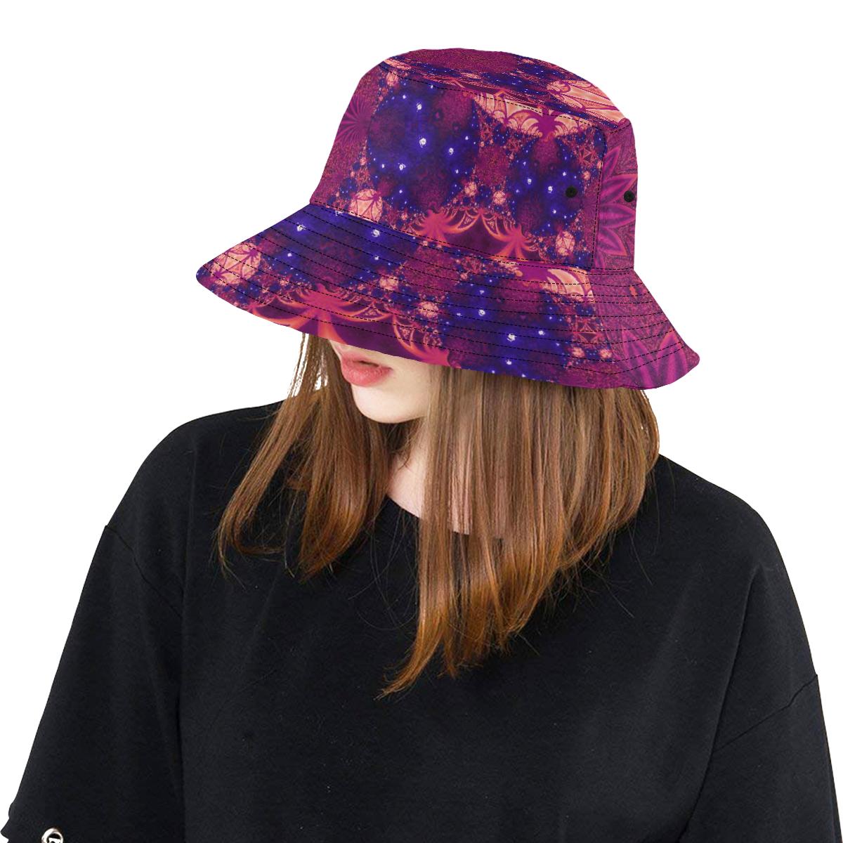 Moonlit Colourful Tropics All Over Print Bucket Hat