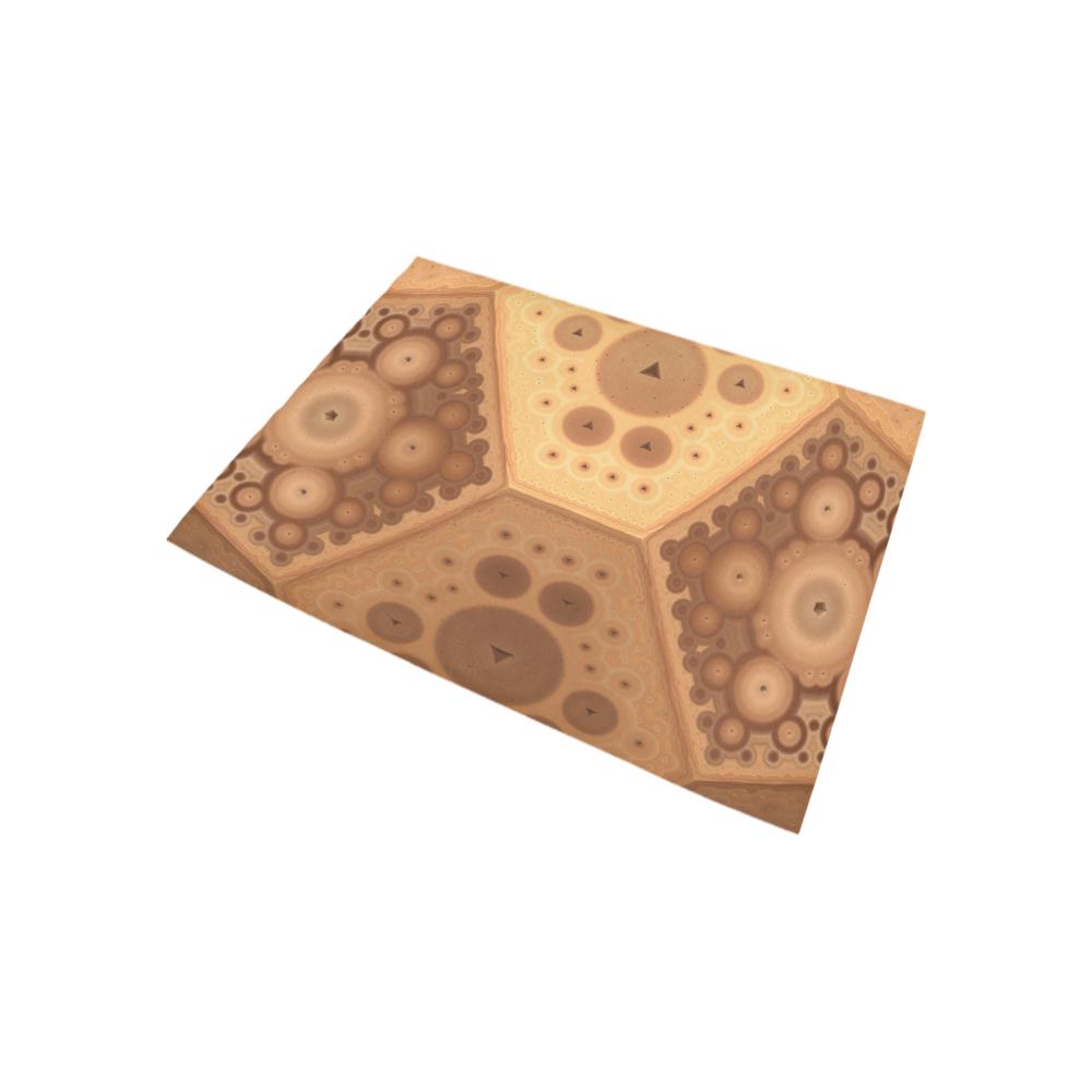 3-D Fractal in Earth Tones Area Rug 5'3''x4'