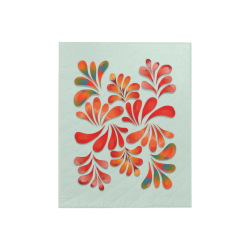 """Red Floral Dance Pattern Quilt 40""""x50"""""""
