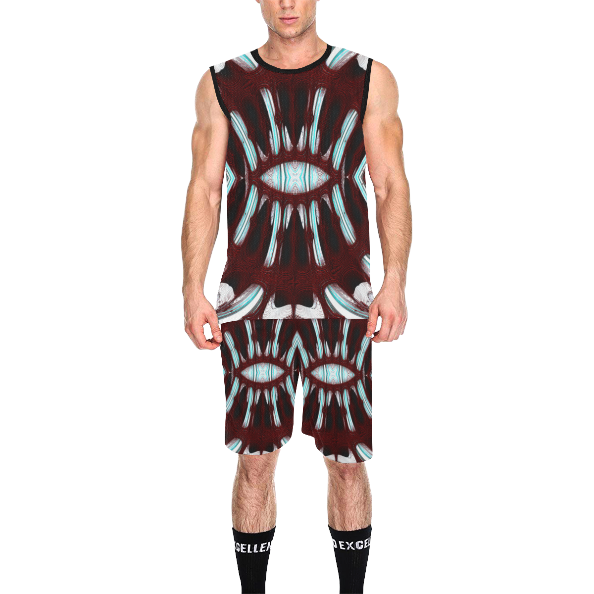 8000  EKPAH 6 low sml All Over Print Basketball Uniform