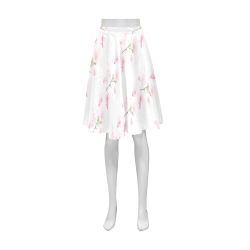 Pattern Orchidées Athena Women's Short Skirt (Model D15)
