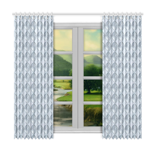 """Glass pattern on a marble background Window Curtain 50""""x96""""(Two Piece)"""