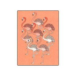"""Living Coral Color Flamingos Blanket 50""""x60"""""""