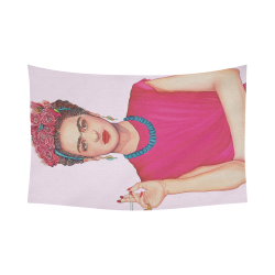 """FRIDA Cotton Linen Wall Tapestry 90""""x 60"""""""