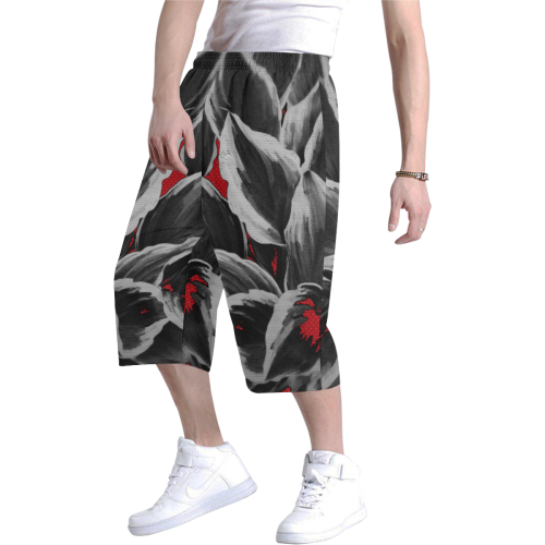 leafs_abstract TRY2 18 Men's All Over Print Baggy Shorts (Model L37)