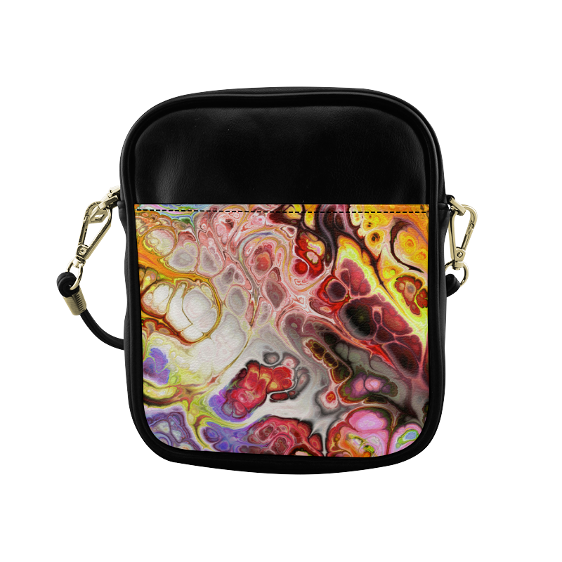 Colorful Marble Design Sling Bag (Model 1627)