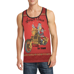 Santa Claus wish you a merry Christmas Men's All Over Print Tank Top (Model T57)