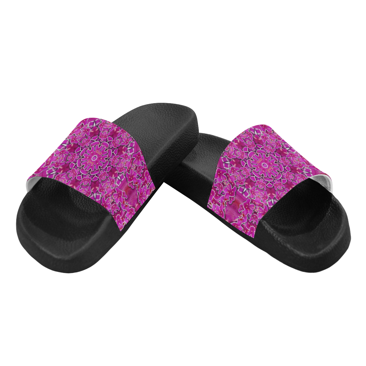 flowering and blooming to bring happiness Men's Slide Sandals (Model 057)