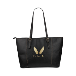 F. L. Y. Wings Large Tote Bag Leather Tote Bag/Large (Model 1640)
