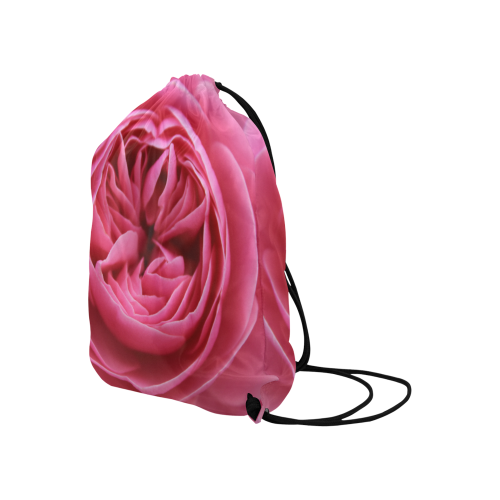 """Rose Fleur Macro Large Drawstring Bag Model 1604 (Twin Sides)  16.5""""(W) * 19.3""""(H)"""