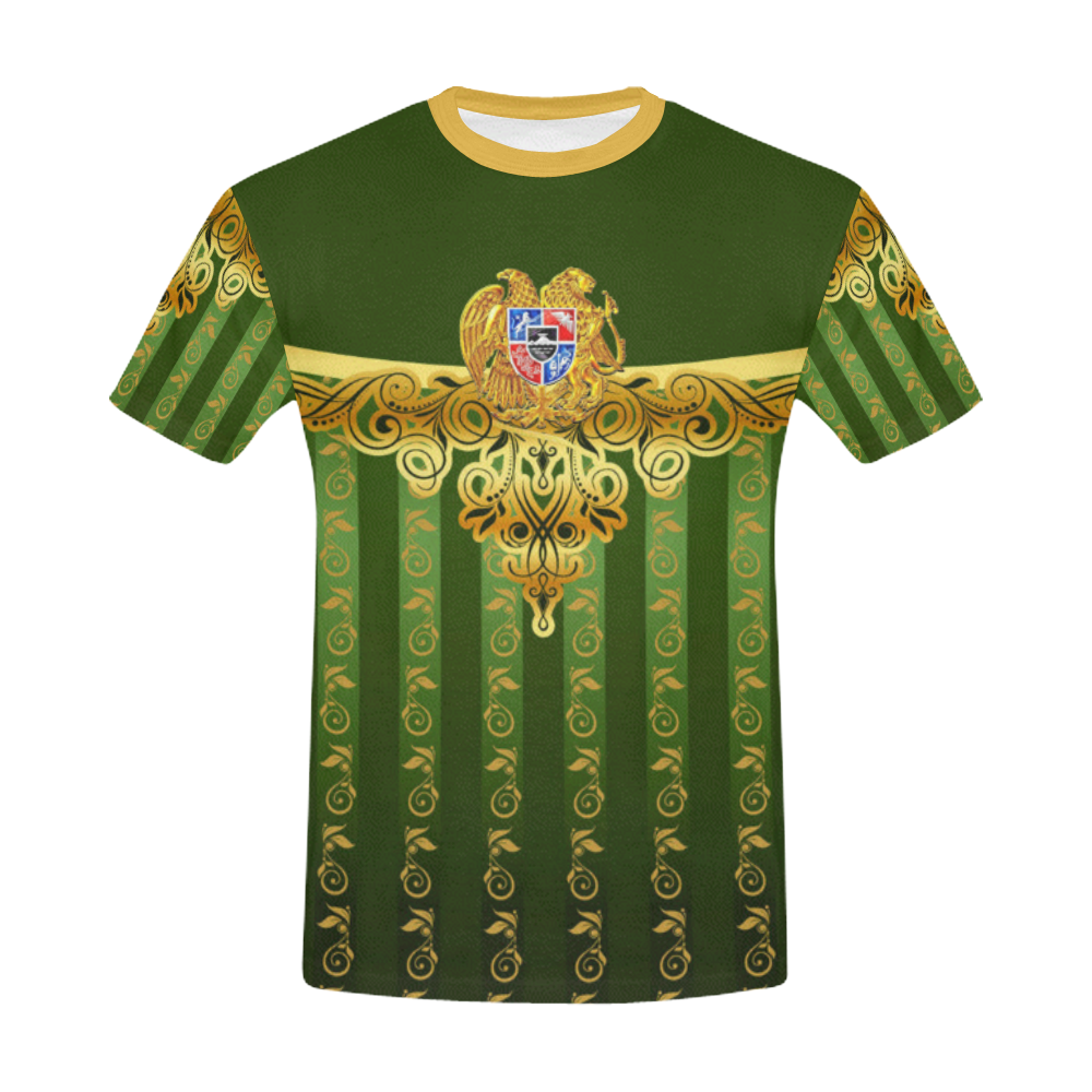 Coat of arms of Armenia All Over Print T-Shirt for Men/Large Size (USA Size) Model T40)