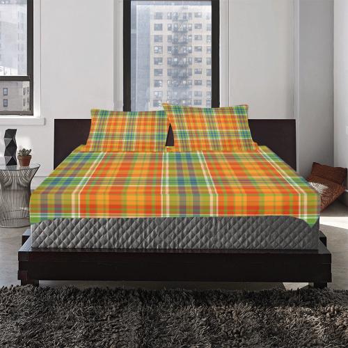Autumn Plaids 3-Piece Bedding Set