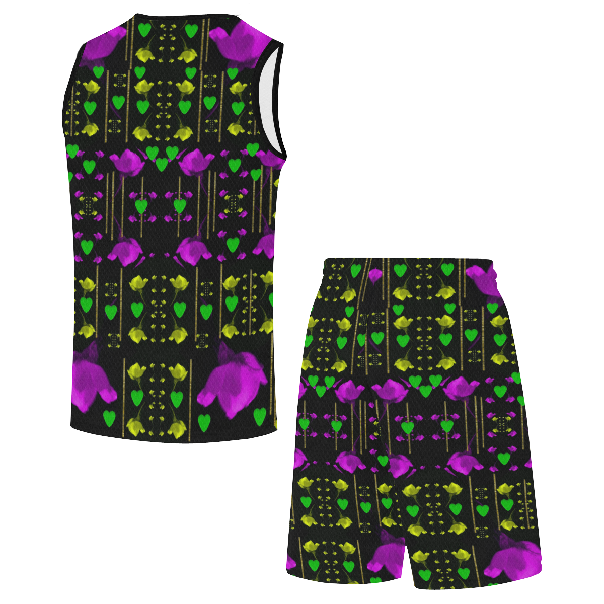 pure roses in the rose garden of love All Over Print Basketball Uniform