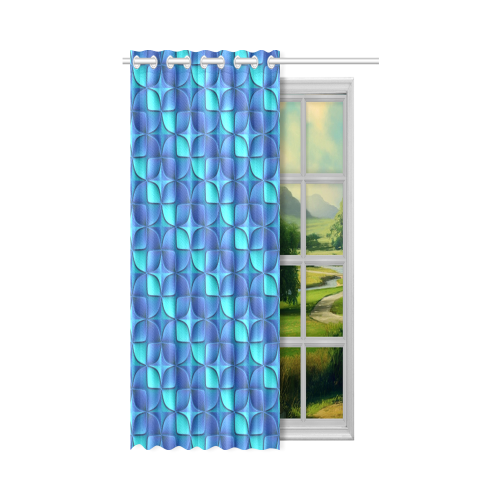 """Blue shades abstract New Window Curtain 50"""" x 84""""(One Piece)"""