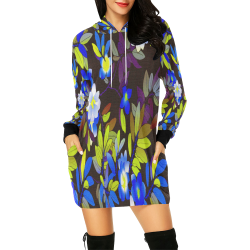 FLORAL DESIGN 1 All Over Print Hoodie Mini Dress (Model H27)