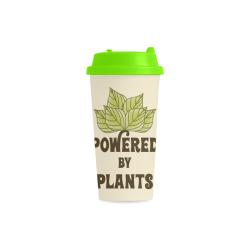 Powered by Plants (vegan) Double Wall Plastic Mug