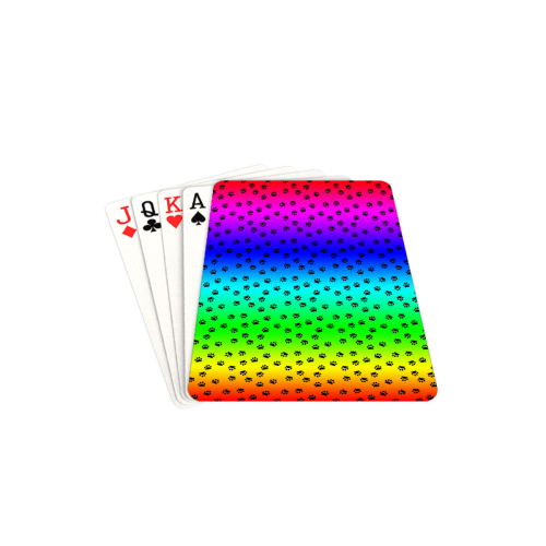 """rainbow with black paws Playing Cards 2.5""""x3.5"""""""