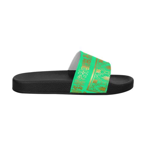 ADINKRA GOLD LEAF Women's Slide Sandals (Model 057)