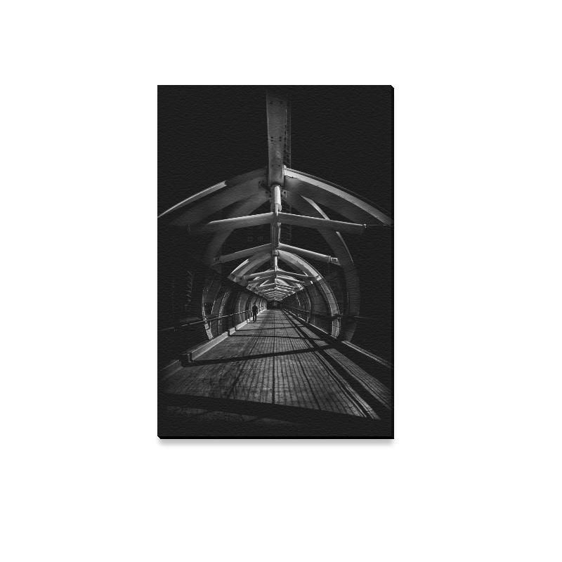 """Puente de Luz Pedestrian Bridge No 1 Canvas Print 12""""x18"""""""