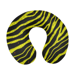 Ripped SpaceTime Stripes - Yellow U-Shape Travel Pillow