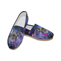 Dog French Bulldog and Galaxy Unisex Casual Shoes (Model 004)