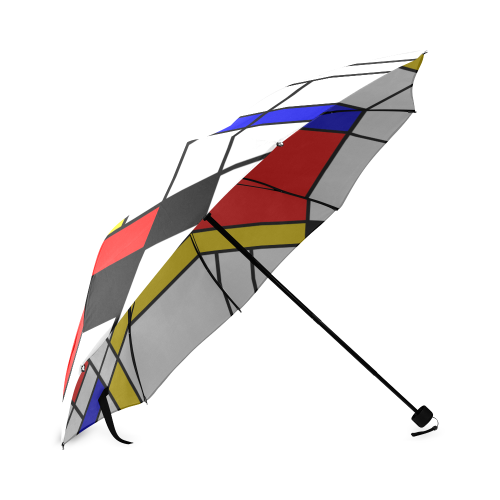 Bauhouse Composition Mondrian Style Foldable Umbrella (Model U01)