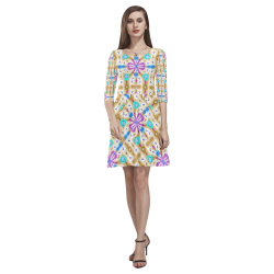 McKenzie's Offroading Adventure Tethys Half-Sleeve Skater Dress(Model D20)