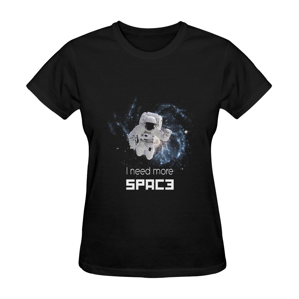 Astronaut in Space Sunny Women's T-shirt (Model T05)